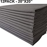 Linen Clubs Pack of 12 Pieces,100% Cellulose Cotton Fibres,20