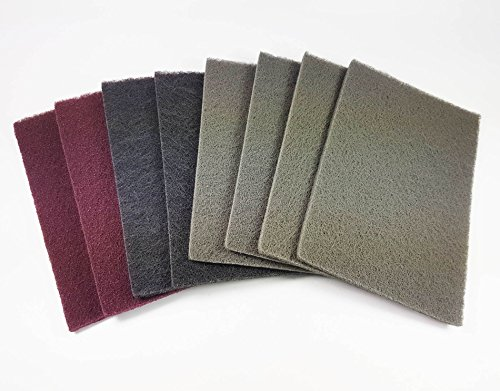 Preisvergleich Produktbild Craft-Equip 8 Stück Schleifvlies-Bogen gemischt 15 x 23 cm KFZ Schleifvliesbögen Vlies