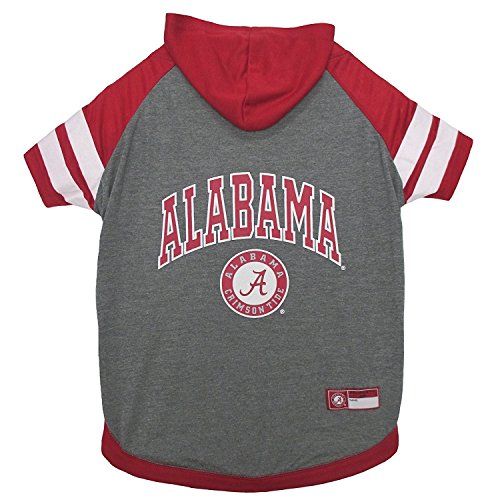 Alabama Crimson Tide NCAA Hoodie Dog Pet Tee T-Shirt, Medium -