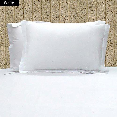 Super Soft weiß massiv 2pc Kissen Fall Standard Größe Ägyptische Baumwolle Fadendichte: 250;