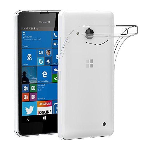 Microsoft Lumia 550 Hülle,AICEK Transparent Silikon Schutzhülle für Lumia 550 Case Crystal Clear Durchsichtige TPU Bumper Handyhülle Microsoft Lumia 550 Hülle