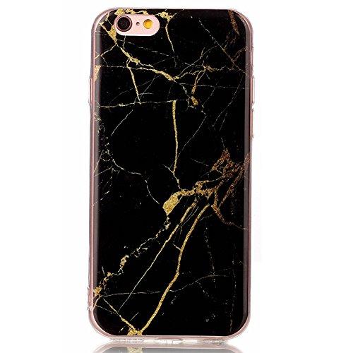 Hosaire 1x Handy Schalen Rückseite Taschen Hülle für Apple iphone 6/6s,Mode Marmor Muster Phone Case Back Cover Farben#9
