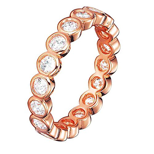 ESPRIT Damen-Ring 925 Sterling Silber Zirkonia Embrace Gr.57 (18.1) ESRG92348C180