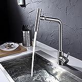 Zapfhähne 304 Edelstahl Küche, Doppelzimmer Wasseraufbereiter, warmes und kaltes Wasser, Waschbecken, Waschbecken, Wasserhahn, Zwei in Einem oder zwei