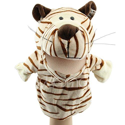 Dabixx Handpuppe Tiger Haustier Plüschtier Hot Cute Sprechen Sprechen Schallplatte Hamster Pädagogisches Spielzeug für Kinder Geschenk Tiger 24 × 16 cm