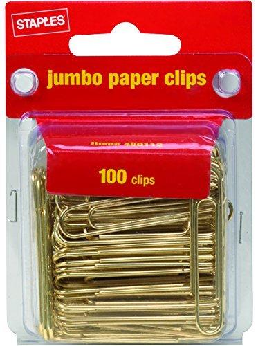 Heftklammern Jumbo Gold Büroklammern glatt 100/pack