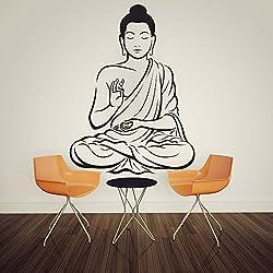 Customwallsdesign indio buda adhesivo decorativo de pared religiosa OM Yoga pared Art Decor