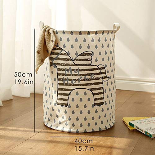 JJHR Wäschekorb Großer Wäschekorb-Spielzeug-Speicher Picknick-Korb-Kasten-Baumwolle, Die Kleidung Orgnizer, D (Oval-speicher-körbe)