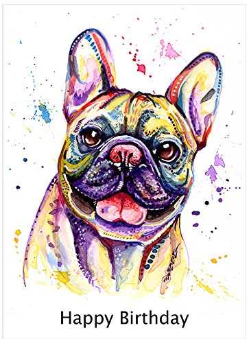 French Bulldog inglese, francese Bull Dog Birthday Gift - testo (Greyhound Dog Stampa)