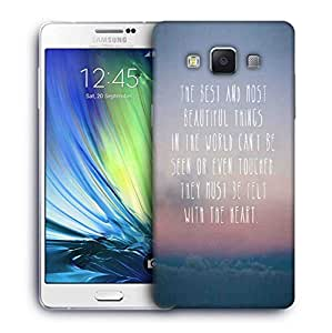 Snoogg Felt with the heart Designer Protective Back Case Cover For Samsung Galaxy A7