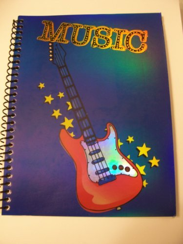 Creatology Spiral Notebook ~ Laser Music Guitar (6