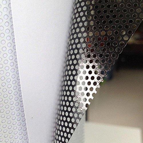 HOHO 137cmx300cm Sichtschutz Schutz Mesh Fenster Folie selbstklebend One Way Vision Tönung (weiß) (Vinyl-mesh)