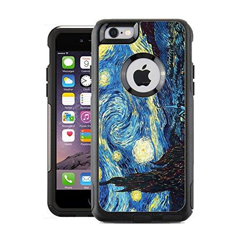 Schützende Design-Vinyl Haut Aufkleber für OtterBox Commuter iPhone 6/6S Case/Cover-Vincent Van Gogh The Starry Night Design-Nur Skins und Nicht Fall-von [teleskins] (6 Otterbox-case Skin Iphone)