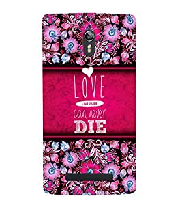 Love Can Never Die 3D Hard Polycarbonate Designer Back Case Cover for Oppo Find 7
