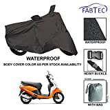 #2: Fabtec Premium Quality Waterproof Scooty Cover With Buckle Lock & Storage Bag Free For Honda Activa 4G