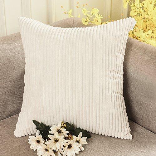 home-brilliant-solid-decorative-toss-pillow-case-striped-corduroy-cuscino-tessuto-cream-cheese-45-x-