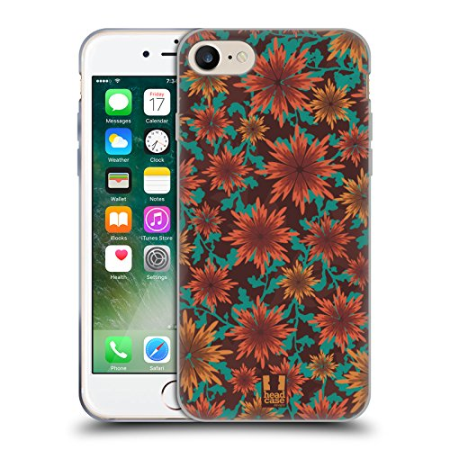 Head Case Designs Zimt Pflanzenornamente Soft Gel Hülle für Apple iPhone 7 / iPhone 8 (Zimt-gelee)