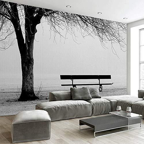 Zxdcd Benutzerdefinierte 3D Fototapete Wandbild Schwarz Weiß Big Tree Bank Abstrakte Kunst Wandmalerei Moderne Wohnzimmer Sofa Tv Hintergrund Dekor