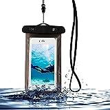 Unterwasser-Handy-Packsack Tasche Telefon wasserdichte Tasche - Schwarz