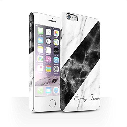 Personalisiert Individuell Marmor Matte Hülle für Apple iPhone 7 Plus / Schwarze Schärpe Design / Initiale/Name/Text Snap-On Schutzhülle/Case/Etui Schärpe/Unterschrift