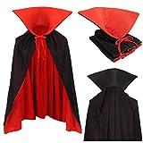 Vampiro Niños Cuello Capa Manto Negro Rojo 90cm