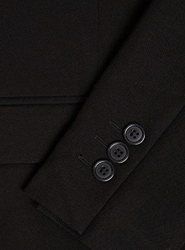 oodji Collection Femme Jaquette Classique Ajustée Noir (2900N)