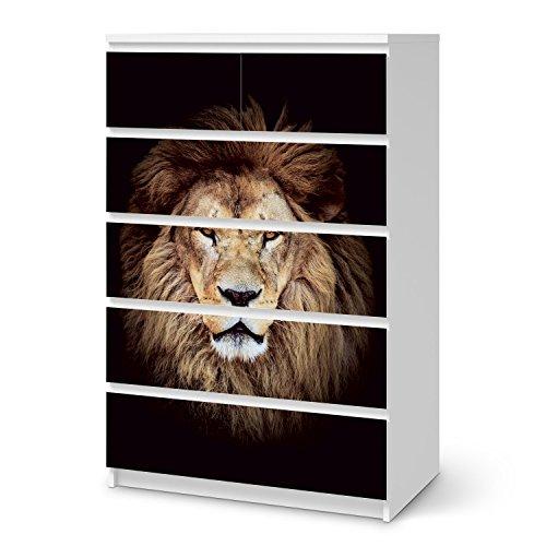 creatisto Klebefolie Sticker Tapete für IKEA Malm 6 Schubladen (hoch) | Möbel renovieren Möbelfolie Möbeltattoo | Wohnen & Dekorieren Esszimmer-Dekoration Wohnaccesoires | Design Motiv Wild Eyes