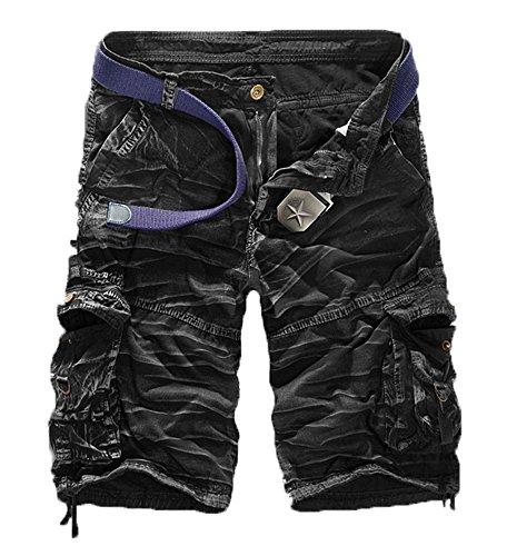 Herren Sommer Retro Casual Cargo Shorts Multi Taschen (Cargo Schwimmen)