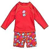 Landora Baby-/Kleinkinder-Badebekleidung langärmliges 2er Set in Rot; Größe 62/68
