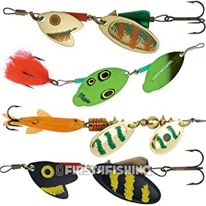 Mepps tandem spinners lures sea trout pike perch for Amazon fishing spinners