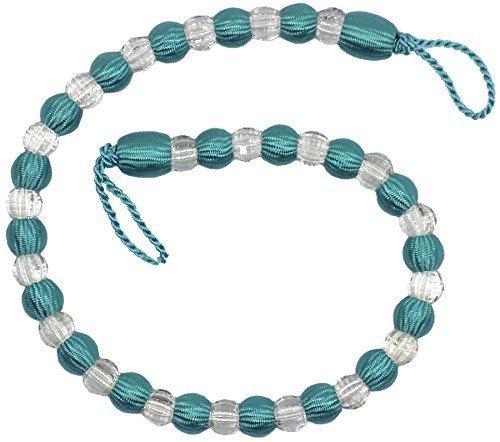 2 X Schöne Türkis Durchsichtige Perlen Vorhänge Lang Raffhalter Raffhalter 30