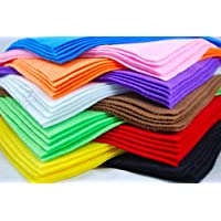 3X10 Felt Fabric Sheets, Various Colours, A4 Size