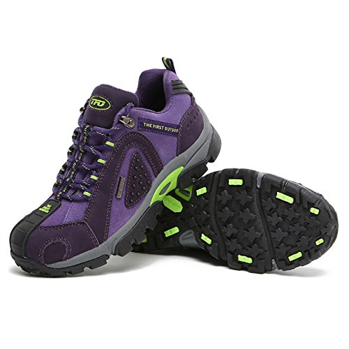 TFO Damen Wasserdichte Trekkingschuhe & Wanderschuhe Anti-Rutsch Bergschuhe & Outdoor Schuhe mit Atmungsaktiver Einlegesohle Violett