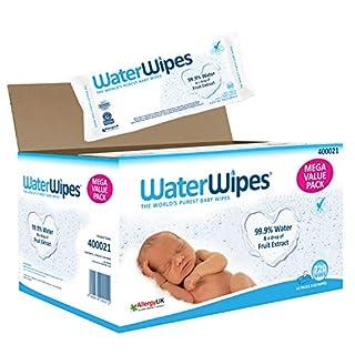 Lingettes bébé pour peaux sensibles WaterWipes, 12 Paquets de 60 (720 Lingettes) (B008J2MZL8) | Amazon Products