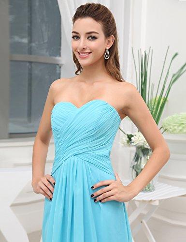Dresstells, A-ligne robe de soirée robe de demoiselle d'honneur longueur ras du sol en mousseline de soie Rose