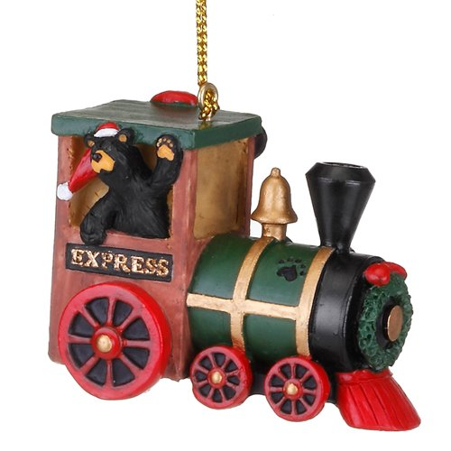 Demdaco Bearfoots Express Train Black Bear Christmas Tree Ornament 3005070211 New