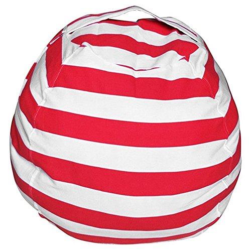 Stofftier Kuscheltiere Aufbewahrung Aufbewahrungstasche Sitzsack Kinder Plüschtiere Aufräumsack Spieldecke Spielzeug Speicher Tasche Aufbewahrung Beutel (Rot)