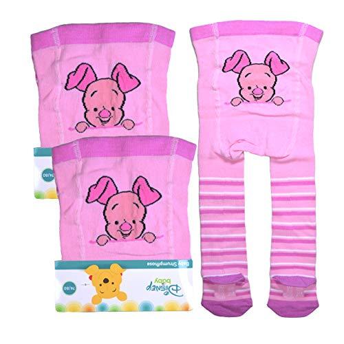 2er Pack Baby Strumpfhosen rosa Gr. 74/80 Motivapplikationen Winni Pu Monate Känguru Mutter Lumpi Elefant Honig Honigtopf Serie der Bär Kleinkind Känguru Serie