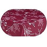 DecoHomeTextil Wachstuch LFGB Milano Lux Rund Oval Größe & Farbe Wählbar Oval 130 x 160 cm Rot abwaschbare Tischdecke