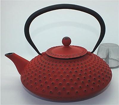 teeblume - Théière en fonte Kambin 1,25 l rouge japonais