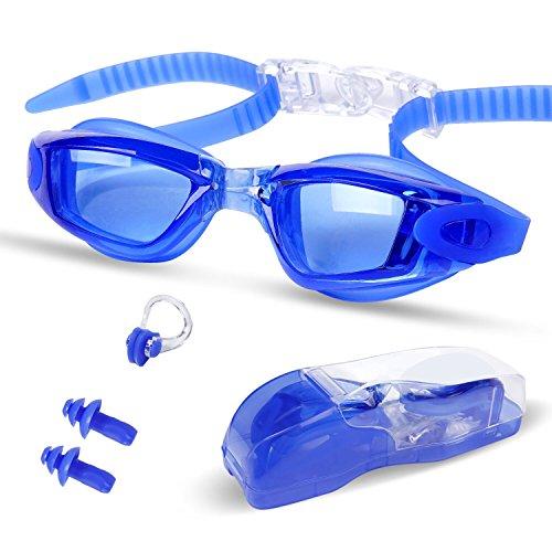 Gafas de Natación Profecional - Antiniebla,Hermético, Ajustable, Protección...