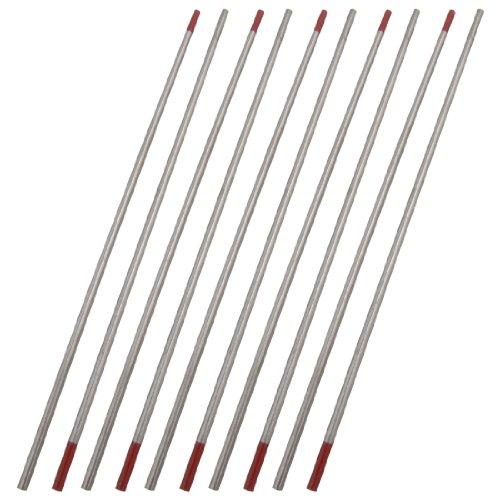Sourcingmap WT20 toriado electrodo para WIG-soldadura, de tungsteno, 2,4 x 150 mm, 10 pcs