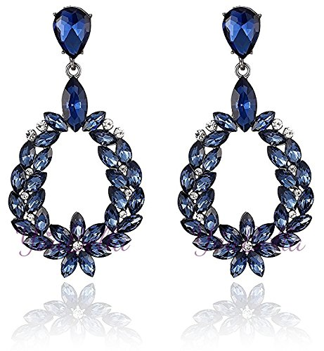 YouBella Jewellery Valentine Collection AAA Swiss Zircon Earings Fashion Fancy Party Wear Earrings for Girls and Women (BLUE)