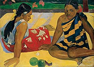 """PAUL GAUGUIN """" Parau Api, Femmes de Tahiti """" Environ 1892 Sur Format A3 Papiers Brillants de 250g. Affiches de Reproduction"""