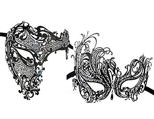 Gras Männliche Mardi Masken (2 Stück Set Paare Venezianer Half Face Masken Kostüme Party)