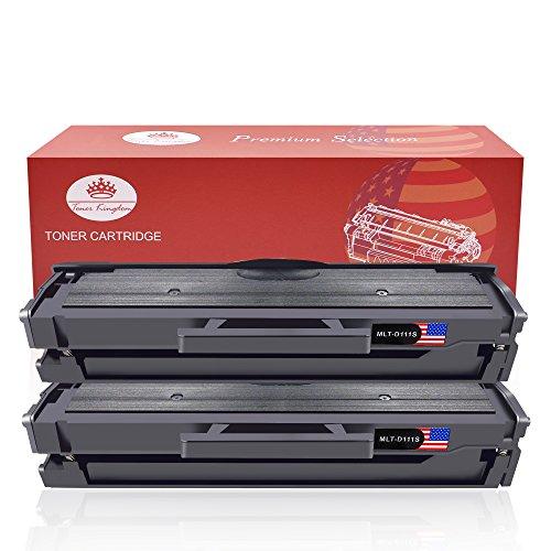 Toner kingdom 2 pacchetto compatibile samsung mlt-d111s cartuccia per toner samsung xpress sl-m2020w sl-m2020 sl-m2022 sl-m2022w sl-m2026 sl-m2026w sl-m2070 sl-m2070w sl-m2070fw stampante nero