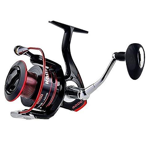 KastKing Sharky II Spinning Reel étanche - Jusqu'à System Drag 41.5LBs révolutionnaire avec Carbon Fiber (Penn Reel Maniglia)