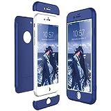 CE-Link Funda iPhone 8, Carcasa Fundas para iPhone 8, 3 en 1 Desmontable Ultra-Delgado Anti-Arañazos Case Protectora - Azul