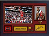 SGH SERVICES Autogramm Michael Jordan Chicago Bulls Autogramm Basketball Memorabilia NBA signiertes Autogramm Foto Druck gerahmt MDF Rahmen Fotodruck unvergesslich