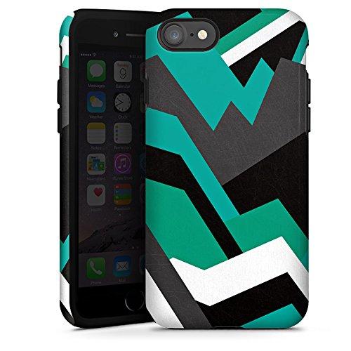 Apple iPhone X Silikon Hülle Case Schutzhülle Steine Berge Muster Tough Case glänzend